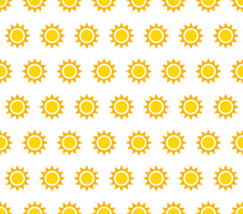 Repeatable pattern, background with small sun shapes