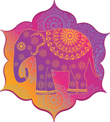 Indian elephant with texture