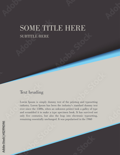 Brochure Template Letter Size Background Vector Stock Image And