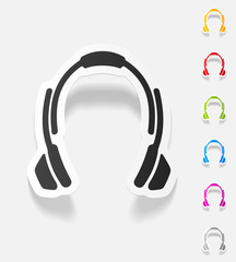 realistic design element. headphones
