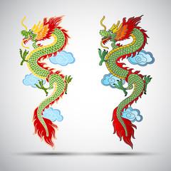 Illustration of Traditional chinese Dragon ,vector illustration