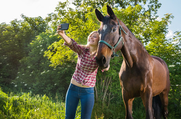 girl taking a selfie