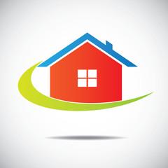 business home icon, branding emblem design