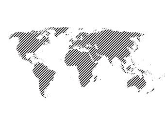 vector world map background illustration