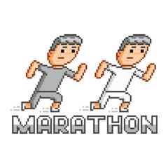 Pixel runners and marathon
