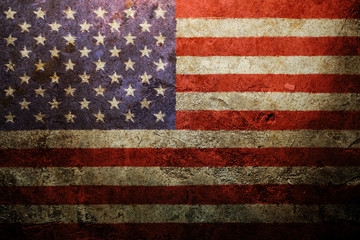 Worn vintage American flag background