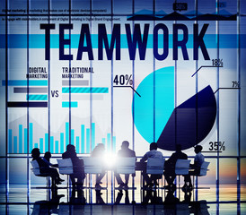 Team Teamwork Collaboration Unity Group Concept