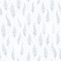Seamless feather pattern. Vector illustration