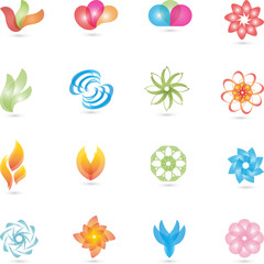 Kosmetik, Wellness, Logos Sammlung