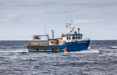 Commercial fishing boat in Icelandic waters.