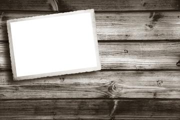 cartolina old stile su legno