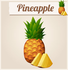 Pineapple. Detailed Vector Icon