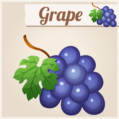 Grape. Detailed Vector Icon