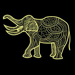 Абстрактный слон