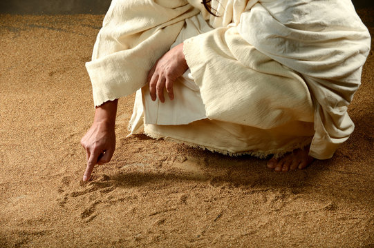 Jesus Writing on the sand