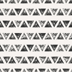 Fototapete - Abstract Triangular Shapes Seamless Pattern