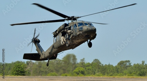 Fototapete Army Black Hawk Helicopter