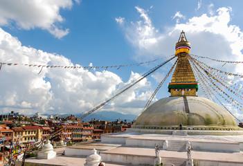 Buddhist stupa of Bodunath, Kathmandu, Nepal
