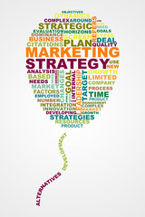 Marketing Strategy wordclouds concept