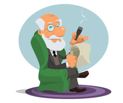 Caricature of Sigmund Freud