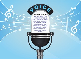 Voice and note background (Microphone)