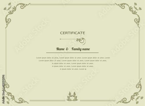 "Thai elegant art frame, certificate design template"" Stock image and ..."