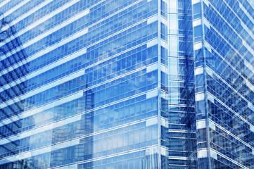 Fototapete - Window glass of modern tower in Bangkok, Thailand