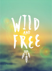 Wild and Free Typographic Design
