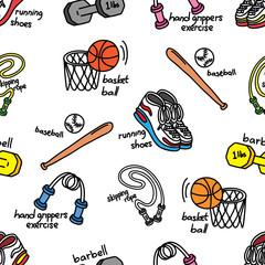 sport equipment background