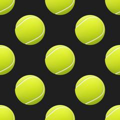 Tennis balls seamless pattern background.