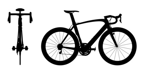 Road racing bike silhouette 2in1 A