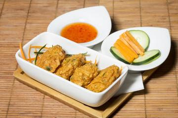 Thai fish cakes with chili sauce