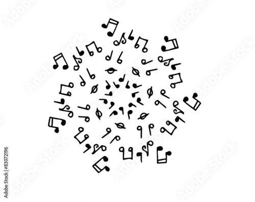Note Musicali Su Sfondo Bianco Immagini E Vettoriali Royalty Free