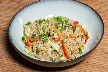 Thai glass noodles stir fry