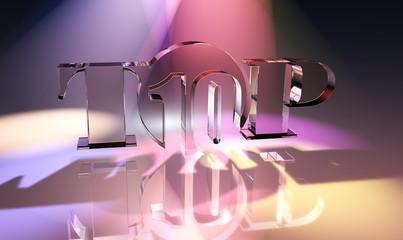 Top Ten - Glas - Typo - Spotlight