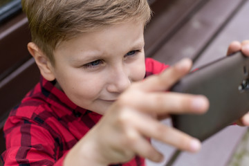 selfie little boy