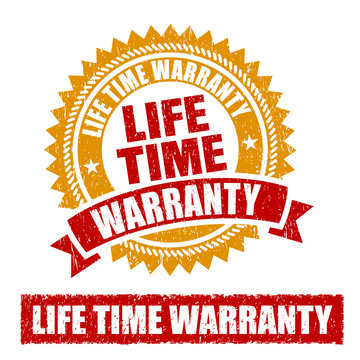 Life Time Warranty Rubber Stamp