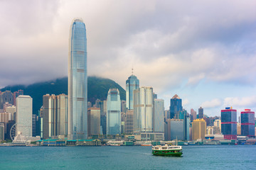 Spoed Foto op Canvas Abu Dhabi Hong Kong city and Victoria Harbour