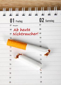 Ab heute Nichtraucher!