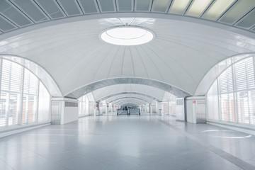 futuristic terminal interior