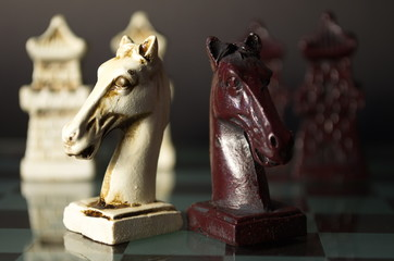Antique Chinese chess is a conceptual stage business