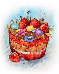 Cartoon cake