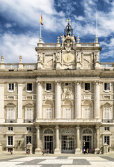 The entrance to the Royal Palace of Madrid
