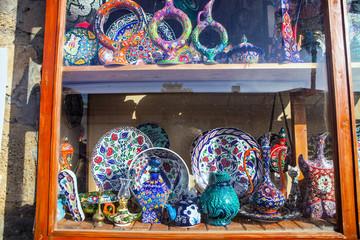 colorful ceramics for interpretation, Turkey