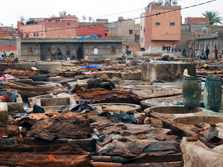 Gerberei in Marrakesch, Marokko - tannery in Marrakech