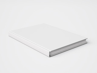 Blank white book. 3d rendering