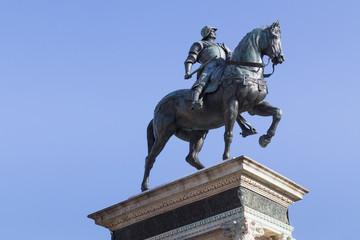 Equestrian bronze statue of Bartolomeo Colleoni in Venice