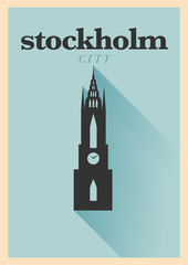 Stockholm City Minimal Poster Design