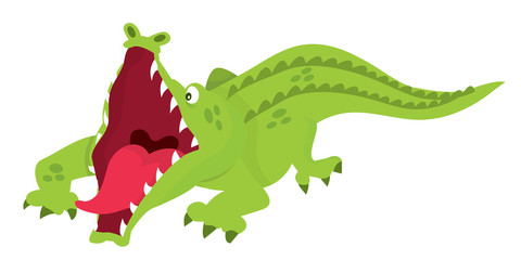 Cartoon Crocodile Attack