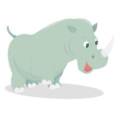 Cute Cartoon Rhinoceros